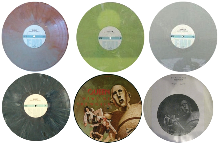 Various colored vinyls (bootleg or fake)