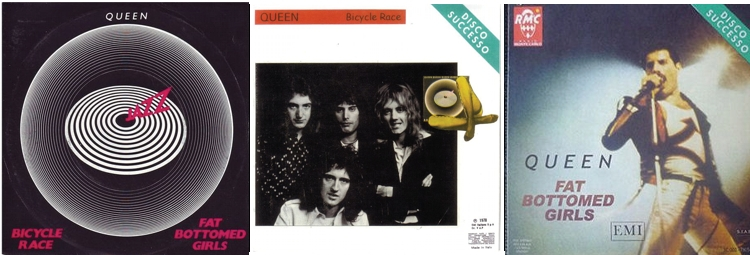 ITALY: Pirate PS, sper sleeve Bicycle Race, sper sleeve Fat Bottomed Girls