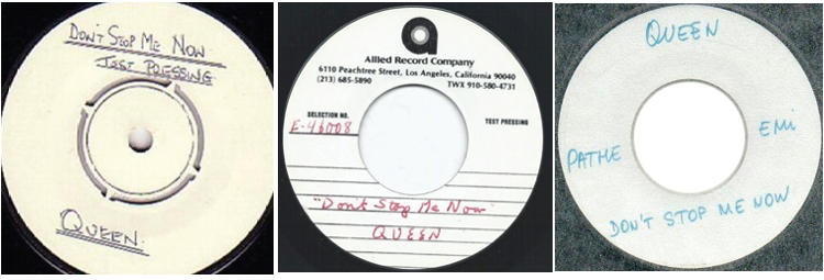 Don't Stop Me Now UK, USA, FRANCE: test pressing