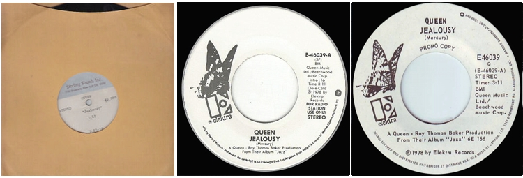 Jealousy USA: acetate and two different promo version